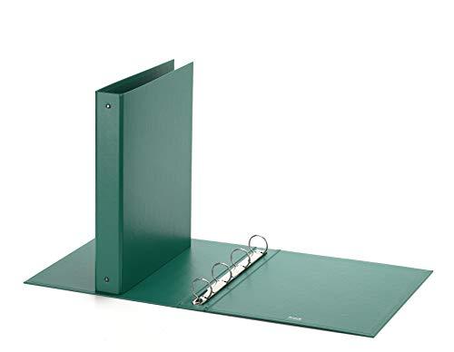 Favorit Raccoglitore a Quattro Anelli Tondi, Formato 22 x 30 Cm, Verde
