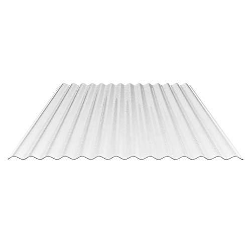 Lichtplatte | Wellplatte | Lichtwellplatte | Material Acrylglas | Profil 76/18 | Breite 1045 mm | Stärke 3,0 mm | Farbe Glasklar | C-Struktur