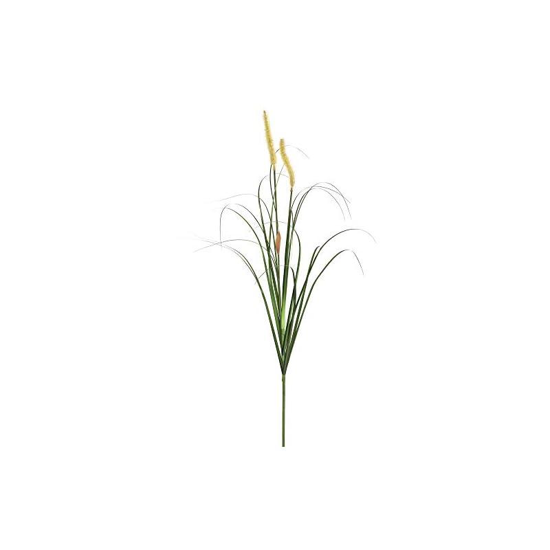 """silk flower arrangements vickerman pvc green foxtail grass artificial-plants, 43"""", 4 piece"""