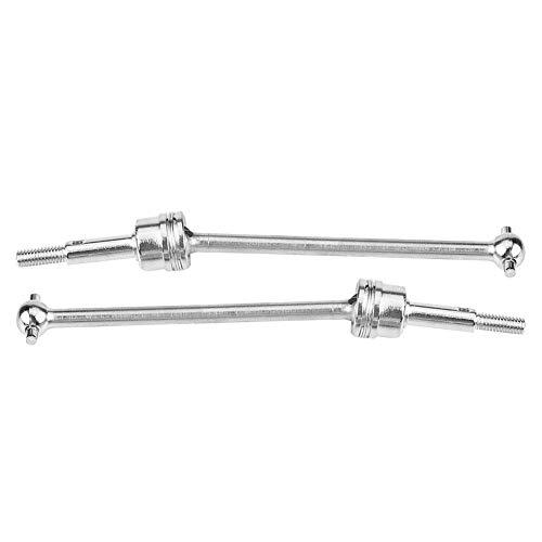 Dilwe Antriebsachse Vorne Hinten, 1 Paar Universalgetriebewelle CVD Vorne Hinten für HIMOTO 1/10 Fernbedienung Zubehör( Silber)