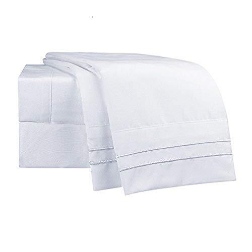 Clara Clark Supreme 1500 Collection 5pc Bed Sheet Set - Split King Size, White