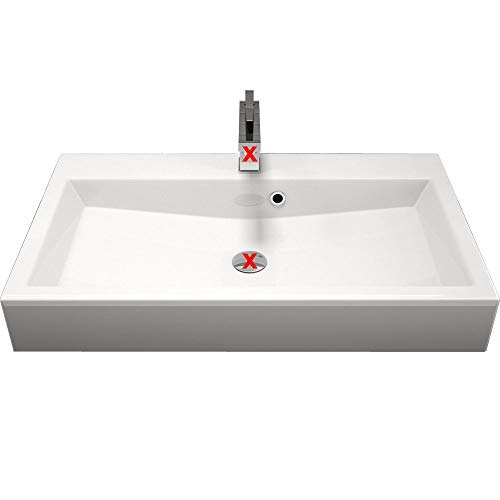 Design Waschtisch Waschbecken Pergamon 70cm zur Wandmontage oder als Aufsatzwaschbecken Farbe: PERGAMON | 70x42x10cm | Mineralguss