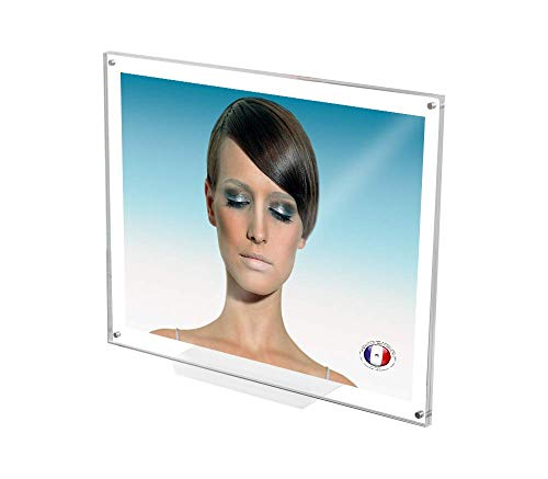 ANKALAB Bilderrahmen aus echtem Plexiglas, transparenter Rahmen, magnetisch, Deko, 20 x 26 cm