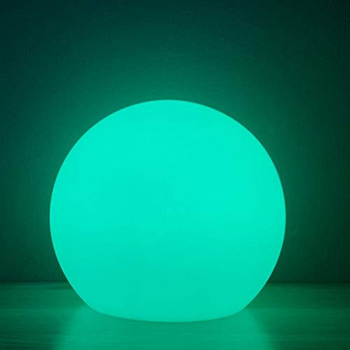 Borelor LED Ball Light, 6-Inch Rechargeable & Remote Control Globe Lights 16 RGB Colors Changing Indoor/Outdoor Night Light for Home/Party/Lawn/Desk Decoration