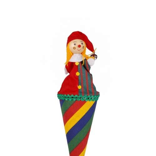 Brink Holzspielzeug Tütenkasper Clown bunt gestreift & Glöckchen