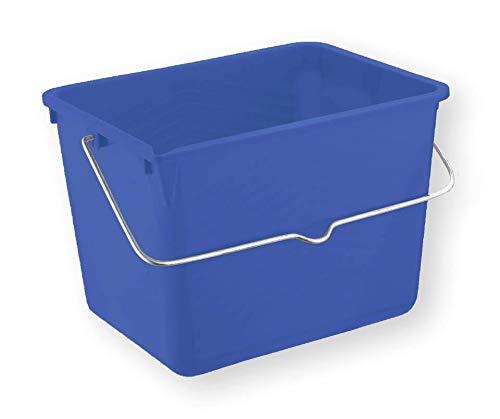 Bergin Malereimer, eckig, blau, 12 Liter, Kunststoff, mit Messskala