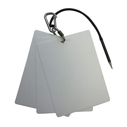 Extremo 3 Paneles Buceo de Escritura de la Pizarra de la Junta Almohadilla con lápiz de Acero Inoxidable de liberación rápida Hebilla bucear Gear .Ideal (Color : Silver)