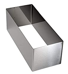 LARES - cut form / baking frame / baking pan made of stainless steel - cake for singles - 26 x 10 x 9cm - Made in Germany