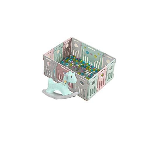 LIUFS-Clôture Jeu Clôture pour Enfants Intérieur Et Extérieur Centre D'activité De Jeu Tapis Rampant Cadeau De Clôture De Protection Marine Ball Toy Cheval À Bascule (Color : 10+2 Pieces)