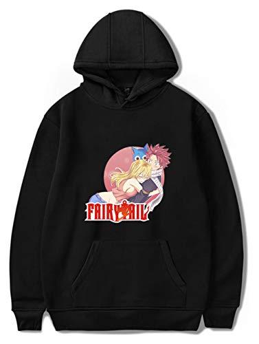 Haosheng Donna Uomo Fairy Tail Felpa con Cappuccio Anime Stampa Grafica Logo Tinta Unita Unisex Casuale Hoodie(M)