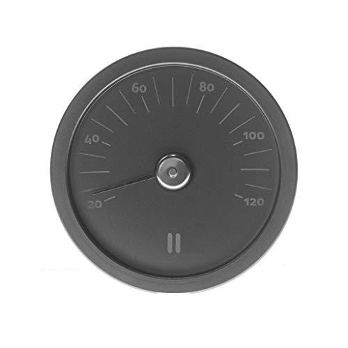 Rento Thermometer rund schwarz aus Aluminium für Sauna