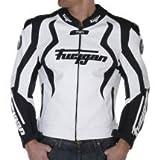 Blouson Moto FURYGAN cuir CROW Blanc Noir