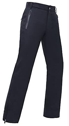 Men's Golf Pants Waterproof Comfort-Fit Rain Pants Lightweight Breathable Hiking Pants with Pockets (Black, S)