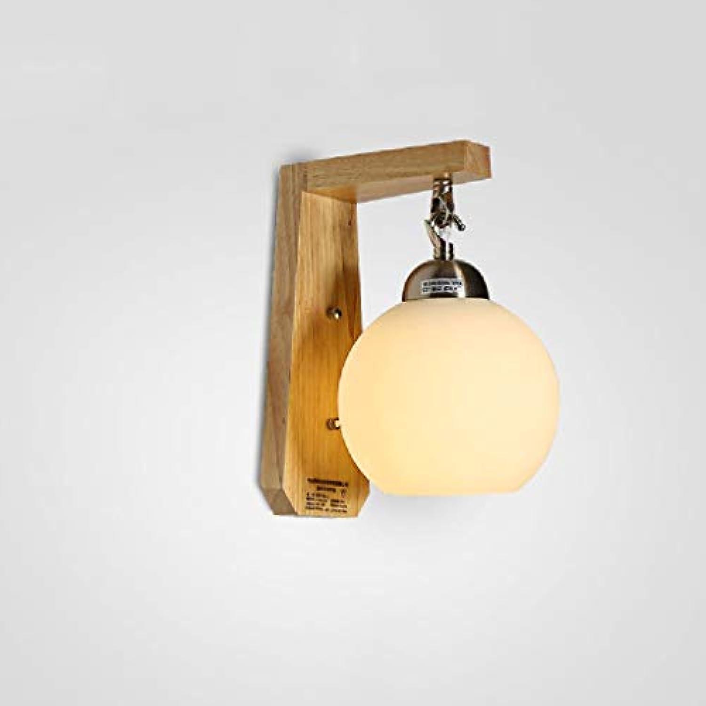 SPA  Japanische Massivholz-Wandleuchte Moderne einfache Schlafzimmer-Nachttisch-Massivholz-Wandleuchte Kreative Studiengang-Ganglichter Hohe  9,84 Zoll E27
