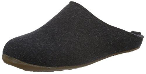 Haflinger Unisex-Erwachsene Everest Fundus Pantoffeln, Grau (Graphit 77), 43 EU