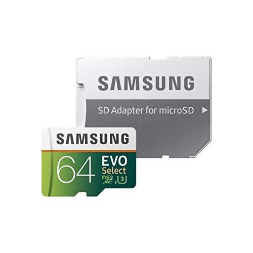 Samsung Memorie MB-ME64GA EVO Select Scheda microSD da 64 GB, UHS-I U3, Fino a 100MB/s, con Adattatore SD