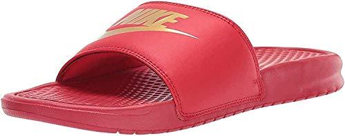 Nike Herren Benassi JDI Dusch- & Badeschuhe, Mehrfarbig (University Red/Metallic Gold 602), 46 EU