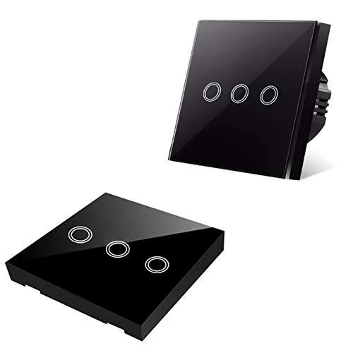 Interruptor Inteligente, Compatible con Alexa y Google Home, 2 Gang, 100-240V, No Neutral