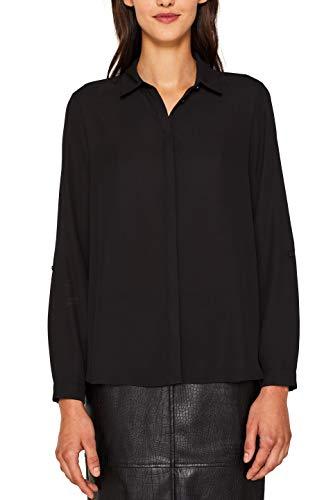 ESPRIT Collection Damen 998Eo1F800 Bluse, Schwarz (Black 001), (Herstellergröße: 38)