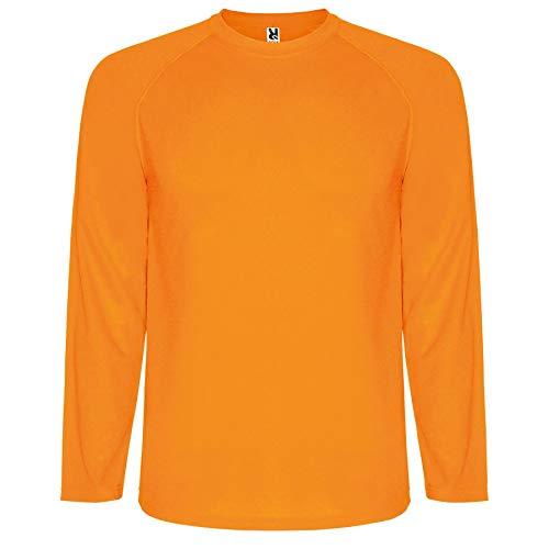 ROLY Camiseta Montecarlo 0415 Hombre Manga Larga Naranja FLÚOR 223 XL