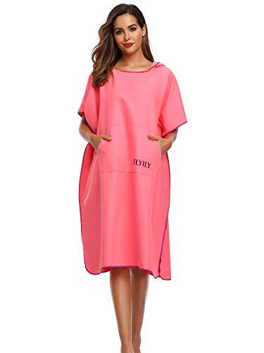 Flyily Surf poncho mobiele kleedhulp en knuffelige badjas in een modieus en nuttig