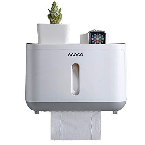 Papierhandtuchspender Papierhandtuchhalter Wandmontage , Handtuchspender Falthandtuchspender zur Wandbefestigung für gefaltete Handtücher, Toilettenpapier Halter Kiste, ohne Bohren für Badezimmer