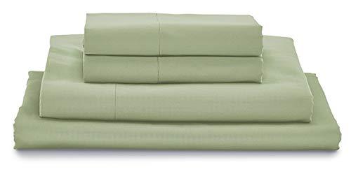 MyPillow Bettlaken-Set, 100 % Zertifiziert, ägyptische Baumwolle, langstapelig Twin XL graugrün