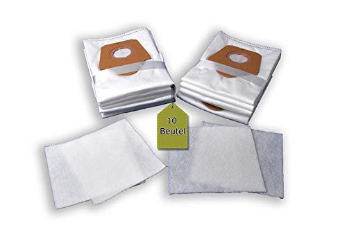 eVendix Staubsaugerbeutel ähnlich Swirl EIO 86, 10 Staubbeutel + 2 Mikro-Filter + 2 Motor-Filter