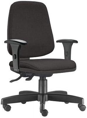 Cadeira de Escritório Presidente Job Ergonômica - Frisokar (Tecido Preto)