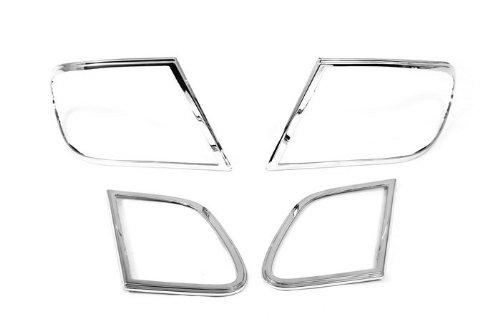 Autochrome Chrome Head Light Coque – pour Merecedes Benz W210 Classe E