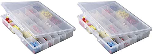 Plano Molding 5324 Portable Organizer 24-Fixed Compartments, Premium Small Parts Organization 2 Pack