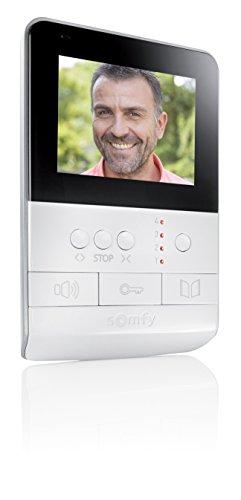 Somfy 2401384- Innenstation für türsprechanlage mit Kamera V100, schwarz/weiß, 4Zoll