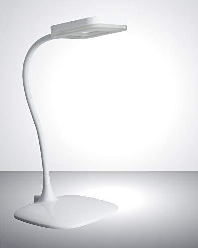 Trango Lampe de bureau LED à intensité variable avec 3 niveaux d'intensité, variateur tactile, 6 W 3000 K Blanc Chaud avec bloc d'alimentation, idéal pour salon de manucure et de maquillage Moderne weiß
