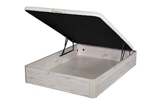 Santino Canapé Abatible Wooden Gran Capacidad Artic 120x190 cm con Montaje a Domicilio Gratis