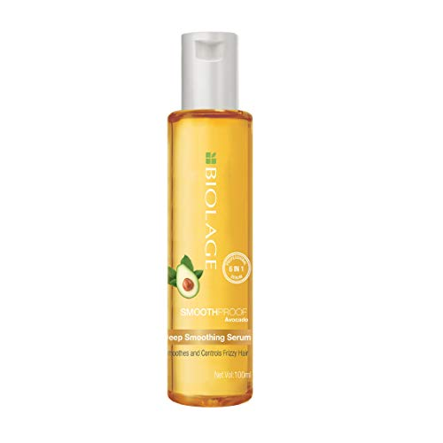 BIOLAGE Smoothproof Deep Smoothing 6-in-1 Serum | Paraben free|Controls frizz, Smoothens rough ends and adds instant shine| For Frizzy Hair | 100ml