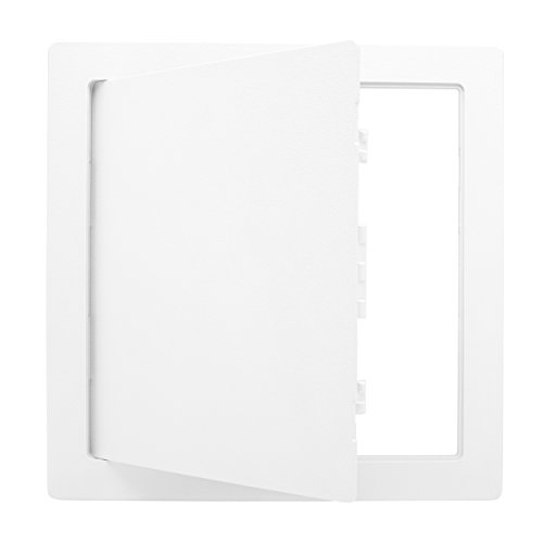 Morvat Plastic Access Panel 12 X 12, Access Door for Drywall, Access Panel for Drywall, Wall Access Panel, Plumbing Access Panel, Heavy Durable Plastic, White