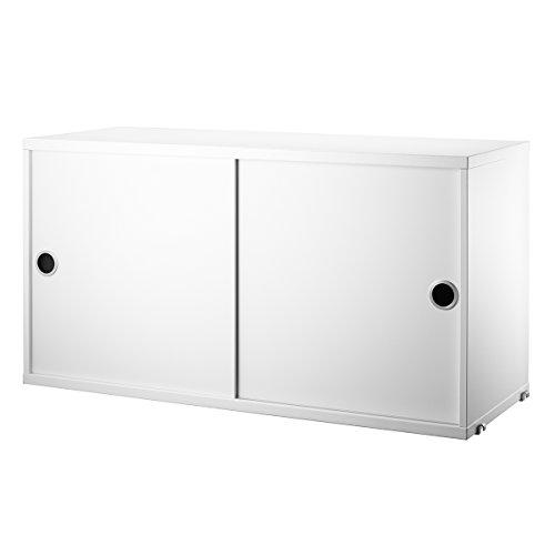 Unbekannt String - Schrankmodul mit Schiebetüren 78 x 30 cm, weiß