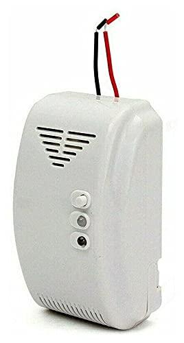 Crimper Detector de Gas Sensor Alarma Safe Alarm Reloj Evite Fugas Naturales Mini Detección Tester 12V Propano Butano LPG para Ciudad Motorhome Camper Restaurant Hotel Escuela Warehouse