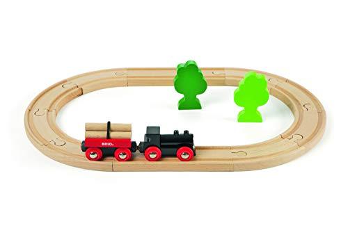BRIO ( ブリオ ) 小さな森の基本レールセット [全18ピース] 対象年齢 2歳~ ( 電車 おもちゃ 木製 レール ) 33042