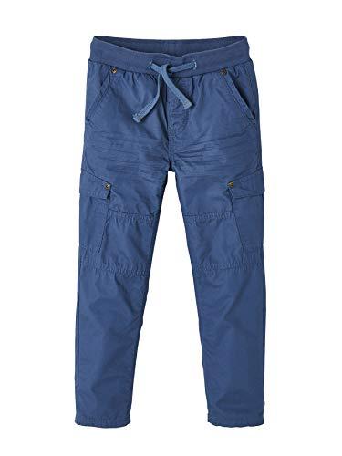 Vertbaudet Jungen Thermohose, Cargo-Style dunkelblau 86