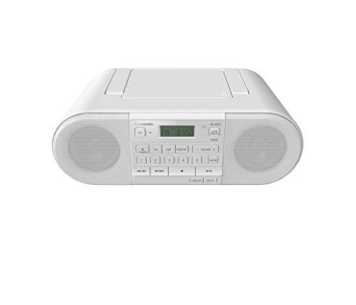 Panasonic RX-D552 Radio DAB+, Bluetooth, Lettore Cd, Design Vintage, 20W, USB, Telecomando Incluso, Portatile, Sound Booster, Bianco