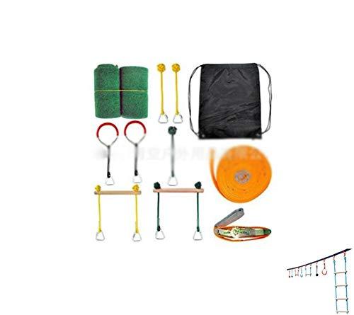 子供の屋外クライミングフェンス手すりセット - 子供のスイングバリアセット手すりとはしごセット屋外開発...