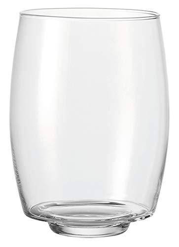 LEONARDO HOME Twilight Windlicht, Höhe 32 cm, Durchmesser 23,5 cm, handgefertigtes Klarglas, 030680