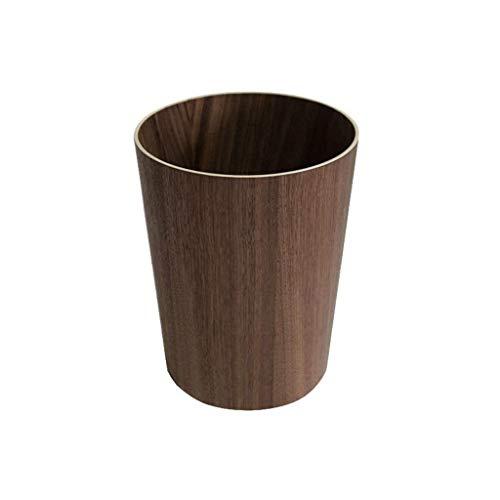 SHYPT Papelera-Decorativo Redondo Pequeña Bote de Basura papeleras, contenedores de Basura Papelera for baños, Polvo de Salones, cocinas, oficinas en casa (Color : B)