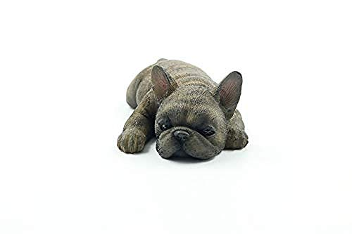 RZXLSZ Figurines Ornaments Statues Sculptures French Bulldog Simulation Animal Sleeping Dog Model Car Decoration Home Decor Gift