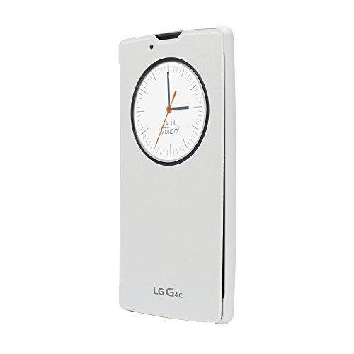 LG Mobile CCF-600.AGEUWH Quick Circle Buch-Schutzhülle für G4 c weiß