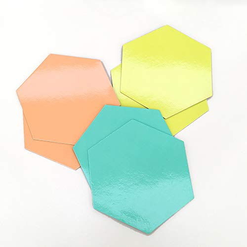 i-SCREAM Thinking Board - Hexagon-Shape, Magnetic 3-Color Dry-Erase Boards for Teachers and Students, School Classroom Idea Brainstorming Activity, Planning