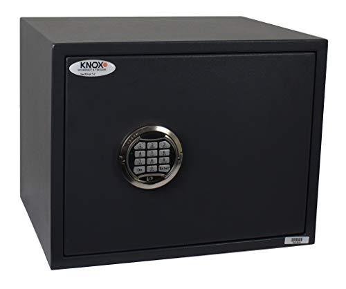 Knoxsafe Secknox2E S2 Tresor Safe Elektronik Sicherheitsschloss Möbeltresor, 350 x 450 x 350 mm, matt grauschwarz