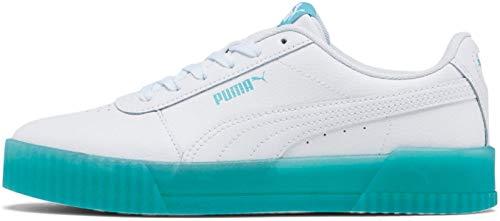 Alexander McQueen by PUMA Black Label womens Carina Sneaker ,Chrystal-puma White-puma White-gulf Stream ,7.5
