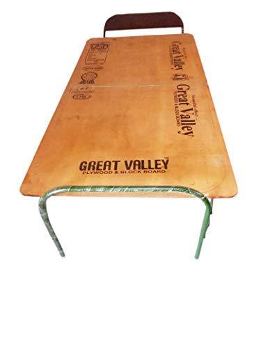 Kabira Enterprises Single Size Plywood with Metal Frame Folding Bed Size (Design 02)